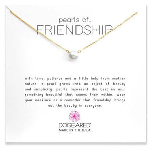 GOLD PEARLS OF FRIENDSHIP NECKLACE