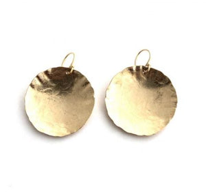 LARGE CONCAVE GOLDFILL EARRING