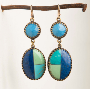 TURQUOISE MOSAIC EARRINGS