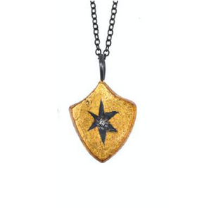 SHIELD WRAPPED STAR PENDANT NECKLACE