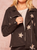 FAUX SUEDE STAR MOTORCYCLE JACKET