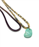 ABALONE TURQUOISE SILK NECKLACE