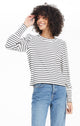 CLEMENTE STRIPED PUFF SLEEVE TOP