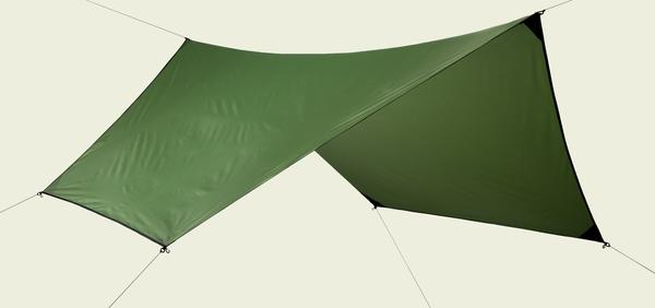 Odds & Ends - Leaf Green (Cactus) Hex Symmetric Rainfly 70D Polyester - 8/10 - Demo - Light Stain