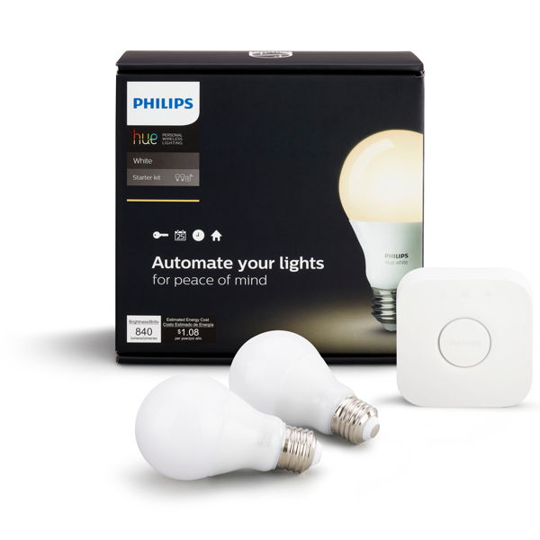 Philips Hue White A19 Starter Kit Packaging