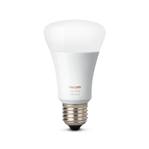 Philips Hue White and Color Ambiance A19 Single Bulb image 20218546062