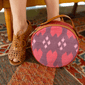 Ikat Indonesia crossbody bag fair trade bohemian