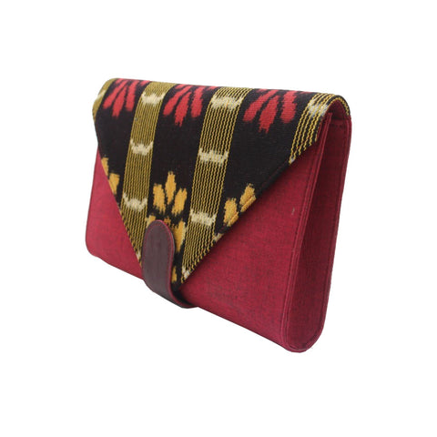 Esther Grace | Ikat Clutch | Red