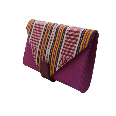 Esther Grace | Ikat Clutch | Purple