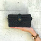 Rectangle for kids Strawbag crossbody bag fair trade bohemian black
