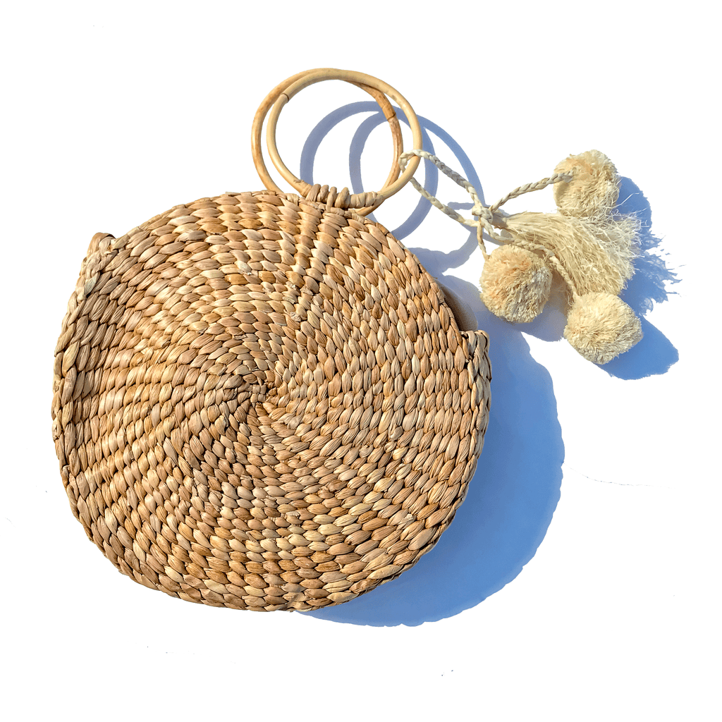 Bohemian strawbag fair trade made in Bali