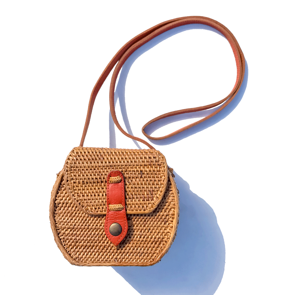 Strawbag crossbody bag fair trade bohemian