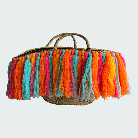 Colorful Tassle Bag | Large