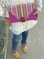 Grace Ikat Clutch | Purple