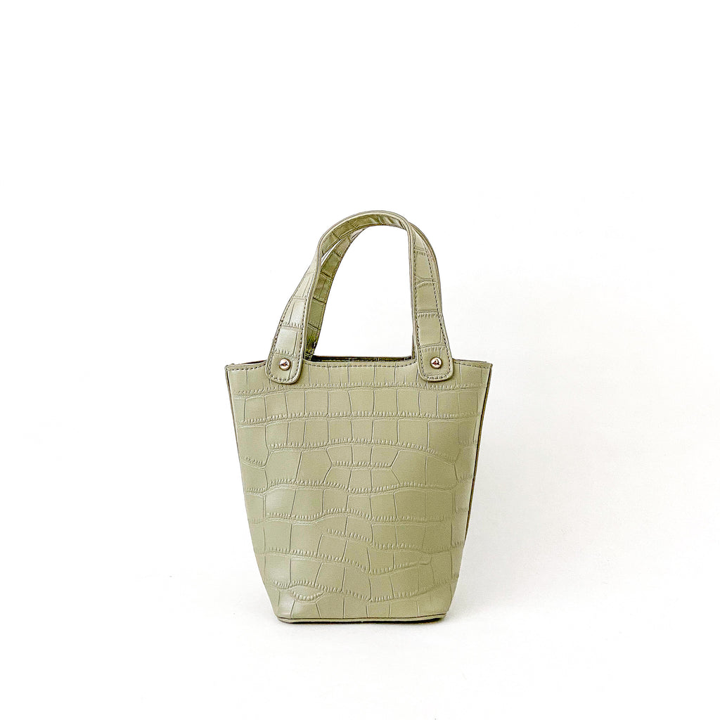 Maisie Vegan Leather - Dusty Green
