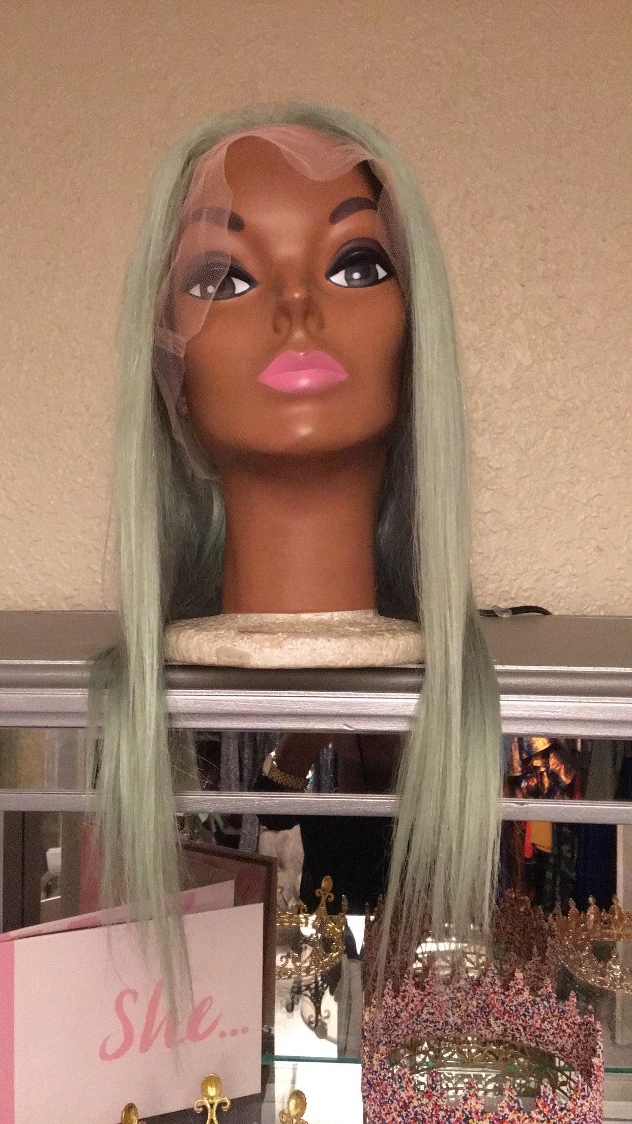 Icy Mint Green Hair Extensions Instatique