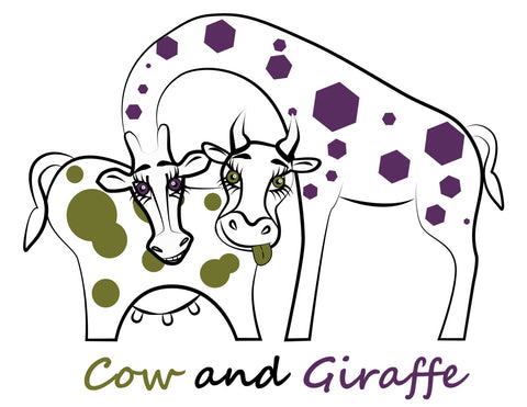 Cow and Giraffe gift card / gift voucher