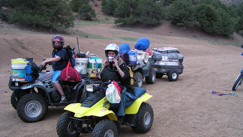 Loaded up the ATVs at Texas Creek on our first camp in 2003