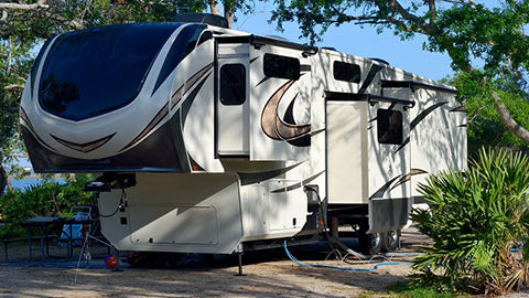 RV in a campground