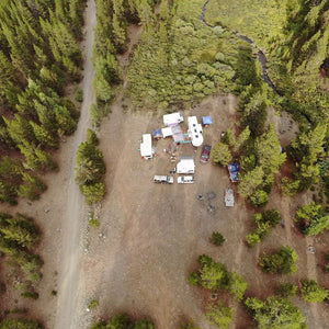 2018 Tin Cup Area Camp Site Drone Shot