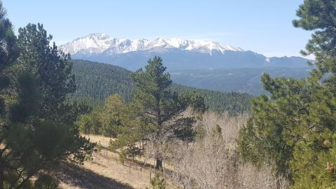 Views of the Sangre de Cristo Range from the Wet Mountains CO