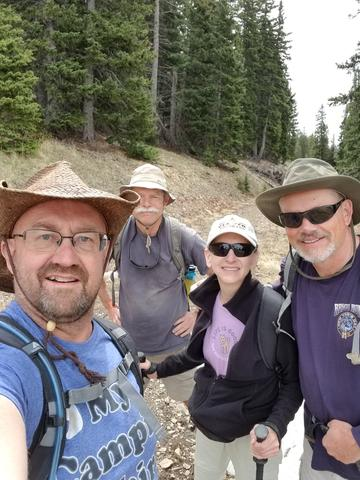 Starting out on our hike up Greenhorn Mountain in the Wet Mountains CO