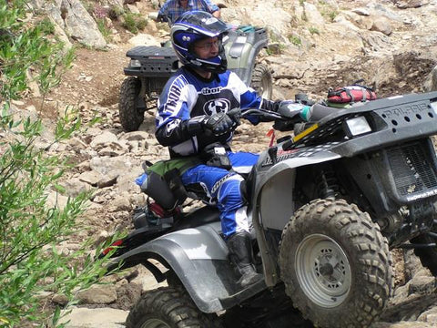 Donald on an ATV at Texas Creek CO