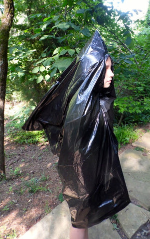 Trash-bag rain suit
