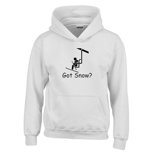 Got Snow? View from the Chair Lift! Novelty Youth Hoodies (No-Zip/Pullover) - CampWildRide.com