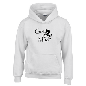 Got Mud? Fun on a Mountain Bike! Novelty Youth Hoodies (No-Zip/Pullover)