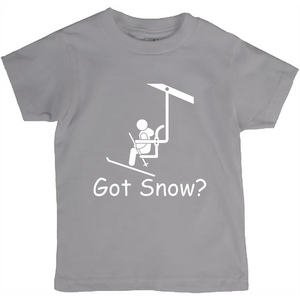 Got Snow? View from the Chair Lift! Novelty Short Sleeve Youth T-Shirt - CampWildRide.com