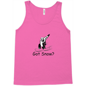 Got Snow? Shreddin with a Snowboard! Novelty Tank Top T-Shirt - CampWildRide.com