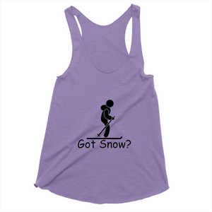 Got Snow? Having Fun on the Slopes! Novelty Women's Tank Top T-Shirt - CampWildRide.com