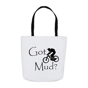 Got Mud? Fun on a Mountain Bike! Novelty Funny Tote Bag Reusable - CampWildRide.com