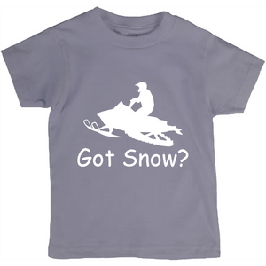 Got Snow? Escape on a Snowmobile! Novelty Short Sleeve Youth T-Shirt - CampWildRide.com