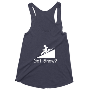 Got Snow? Let it Slide! Novelty Women's Tank Top T-Shirt