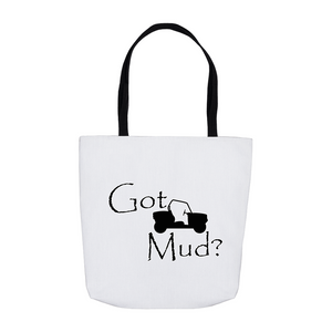 Got Mud? Fun on a Side-by-Side! Novelty Funny Tote Bag Reusable - CampWildRide.com