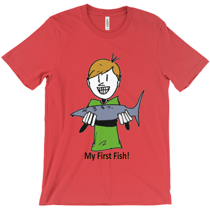 My First Fish! T-Shirt Happy Boy with 1st Fish - CampWildRide.com