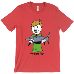 My First Fish! T-Shirt Happy Boy with 1st Fish