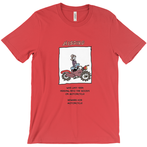 Missing Wife on Motorcycle T-Shirt Reward for Motorcycle - CampWildRide.com