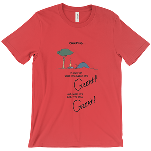 Tent Camping is like Sex T-Shirt It's Great! - CampWildRide.com