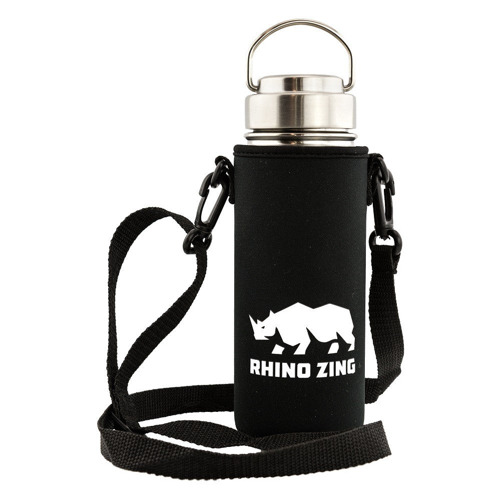 18 Oz Stainless Steel Water Bottle w/Sleeve and Wide Mouth Stainless Steel Lid - CampWildRide.com