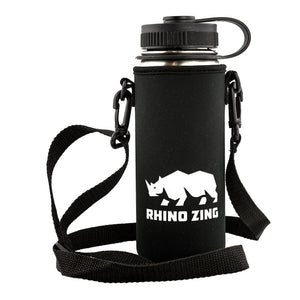18 Oz Stainless Steel Water Bottle w/Sleeve and Wide Mouth Standard Lid