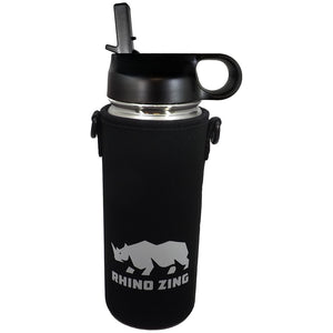 18 Oz Stainless Steel Water Bottle w/Sleeve and Wide Mouth Straw Lid - CampWildRide.com