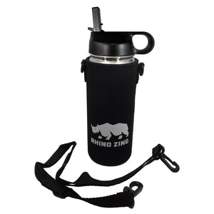 18 Oz Stainless Steel Water Bottle w/Sleeve and Wide Mouth Straw Lid