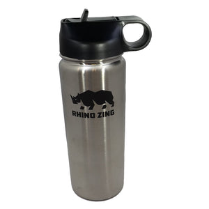 18 Oz Stainless Steel Water Bottle with Insulated Wide Mouth Straw Lid - CampWildRide.com