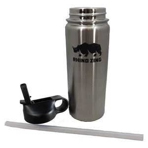 18 Oz Stainless Steel Water Bottle with Insulated Wide Mouth Straw Lid