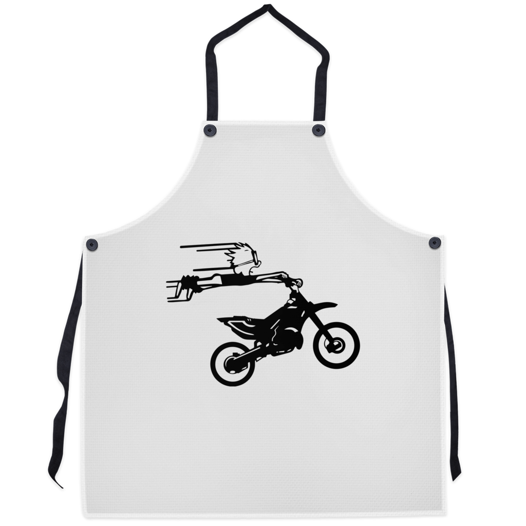 Crazy Boy on Motorcycle! Novelty Funny Apron - CampWildRide.com