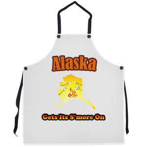 Alaska Gets Its S'more On! Novelty Funny Apron - CampWildRide.com