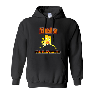 Alaska Gets Its S'more On! Novelty Hoodies (No-Zip/Pullover) - CampWildRide.com